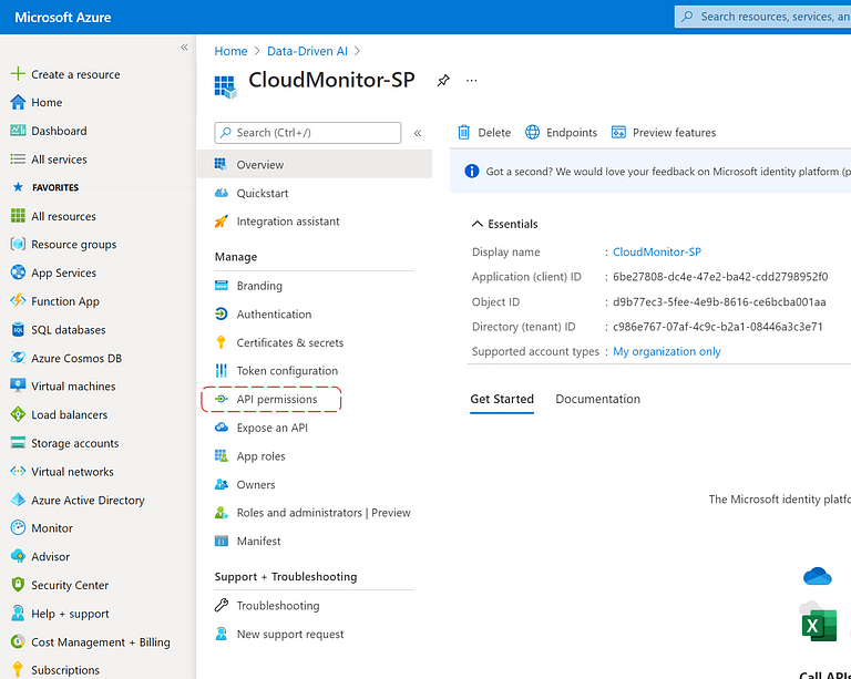 Active Directory User API Permissions